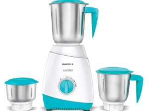 Havells ASPRO 500 Watt Mixer Grinder with 3 Stainless Steel Jar (White & Light Blue) with 5 year motor warranty toorshop toor shop