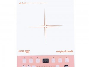 Morphy Richards Super Chef 2000 Watts Induction Cooker (White & Pink) toorshop toor shop chirag electronics