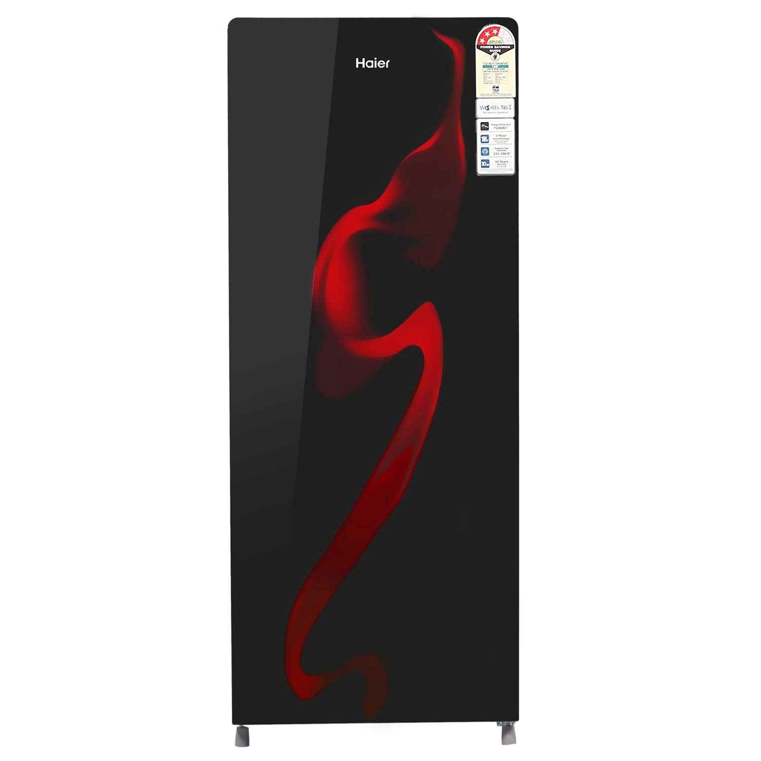 deals coupon sale Haier 220 L 3 Star Direct-Cool Single Door Refrigerator (HRD-2203CSG-E, Black Spiral Glass) toorshop toor shop chirag electronics