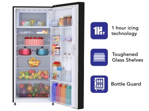 Haier 195 L 4 Star Direct-Cool Single Door Refrigerator (HRD-1954CAG-E, Artistic Glass) toorshop toor shop chirag electronics