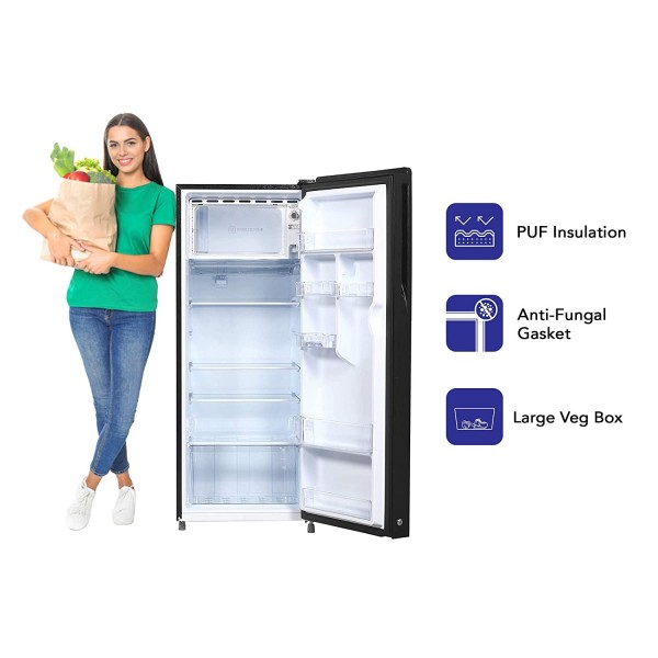 Haier 220 L 3 Star Direct-Cool Single Door Refrigerator (HRD-2203CSG-E, Black Spiral Glass) toorshop toor shop chirag electronics